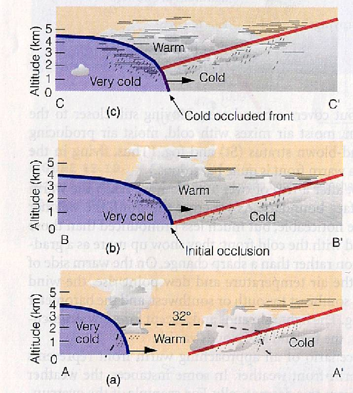 The Cold Front Figure 1215 Page 315 The Warm Front Figure 1219